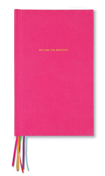 Kate Spade journal pink eat cake for breakfast