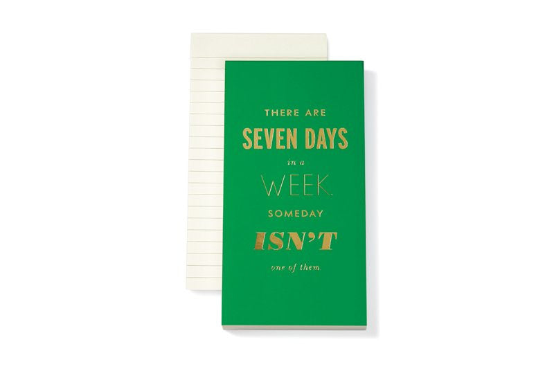 Kate Spade New York Notepad seven days a week