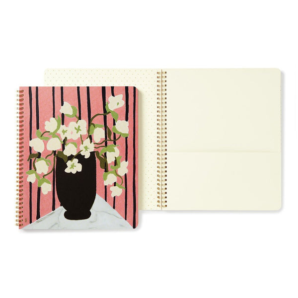 Kate Spade Large Spiral Notebook bouquet