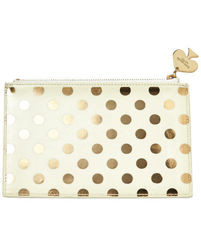 Kate Spade New York Pencil Pouch gold dot