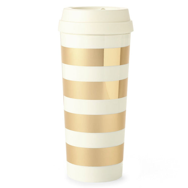 kate spade new york thermal mug gold stripe