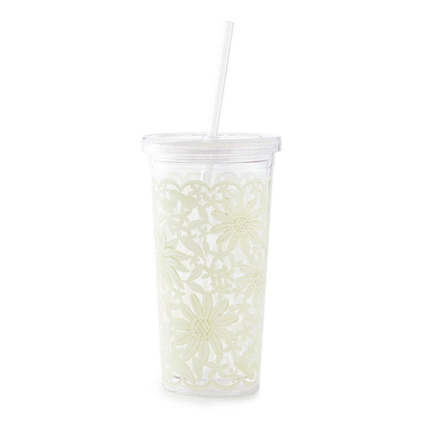 Kate Spade New York Tumbler With Straw daisy lace