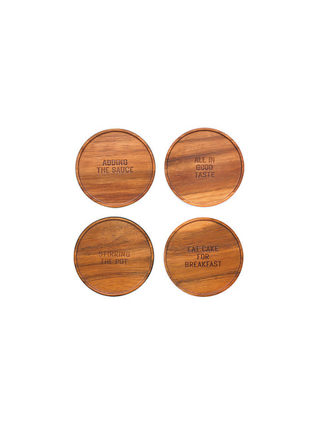 kate spade new york Wooden Coaster Set of 4
