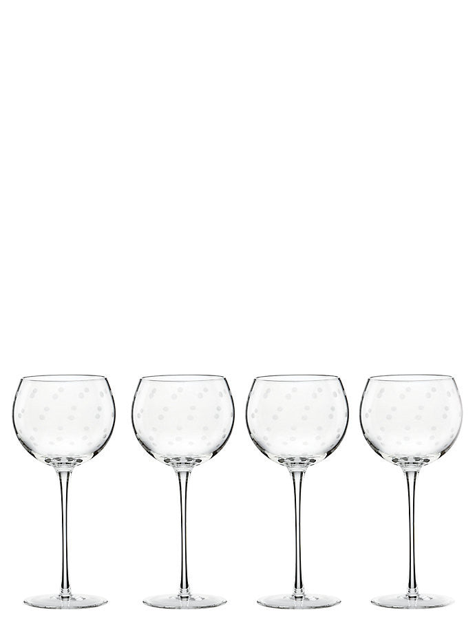 kate spade new york Larabee Dot Balloons Wine Glass Set