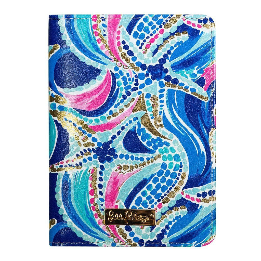 Lilly Pulitzer Luggage Tag and Passport Holder Ocean Jewels