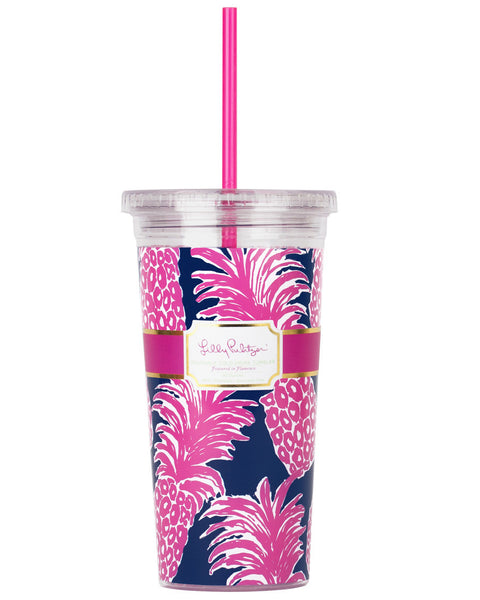Lilly Pulitzer Tumbler With Straw Flamenco