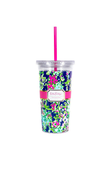 Lilly Pulitzer Tumbler With Straw Southern Charm