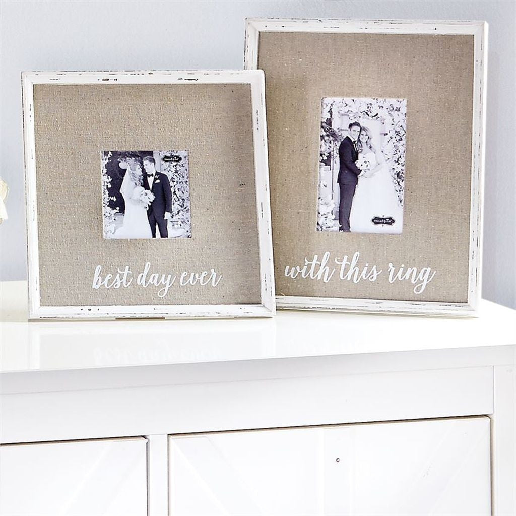 Mud Pie Linen Wedding Frames