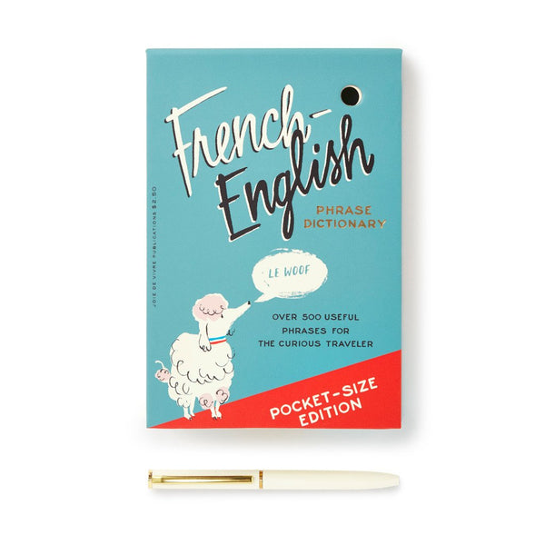 kate spade new york Loose Note Holder With Pen - French Dictionary