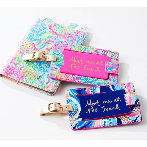Lilly Pulitzer Luggage Tag Lovers Coral
