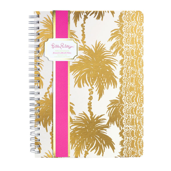Lilly Pulitzer Mini Notebook - Metallic Palms