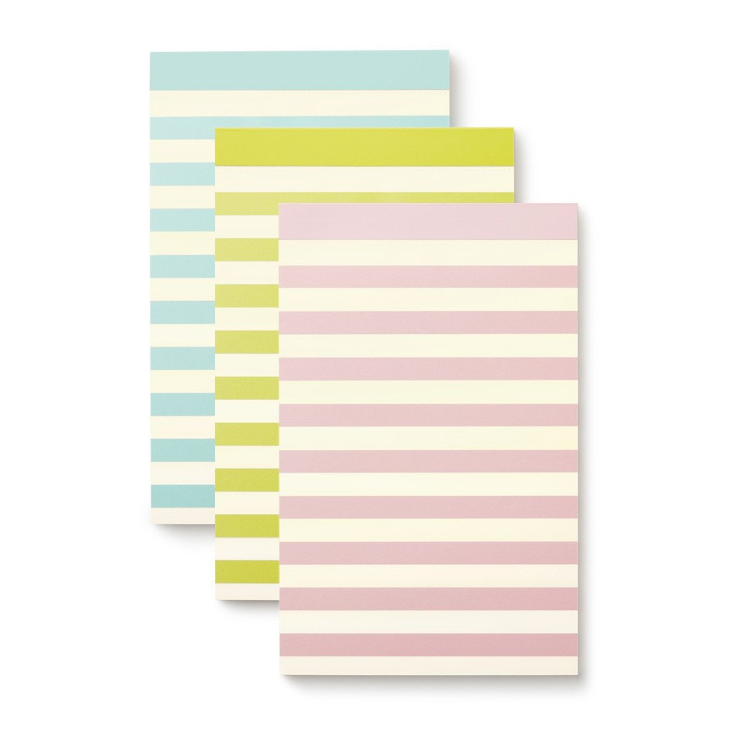 kate spade new york Notepad Set - Pastel Stripe
