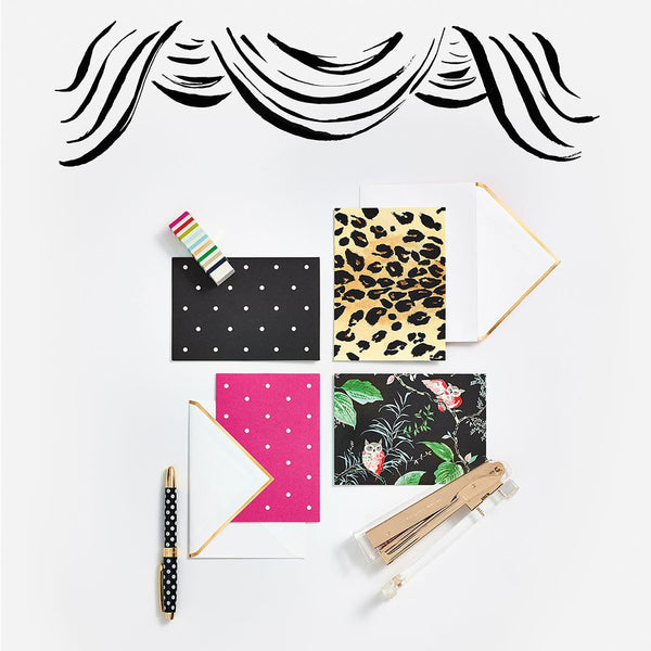 kate spade new york Leopard Notecard Set