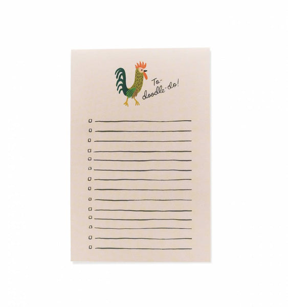 Rifle Paper Co To-Doodle-Do Notepad, Rooster