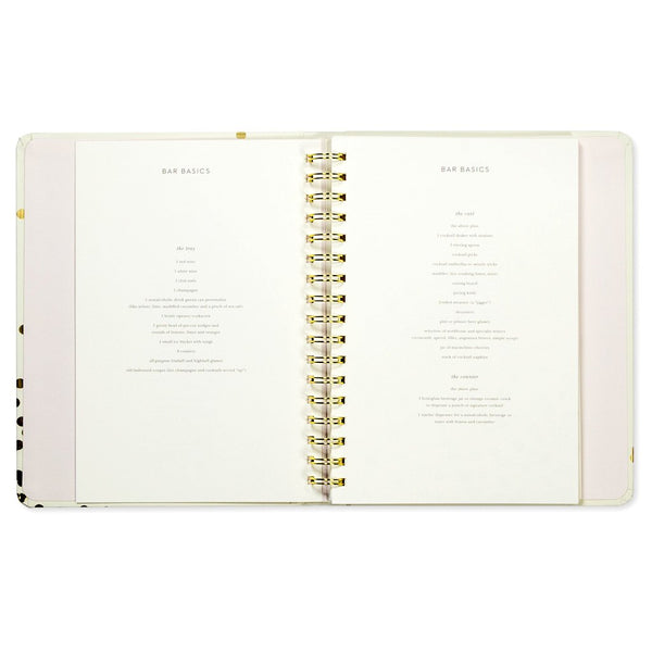 kate spade new york Party Planning Book - Gold Confetti Dot