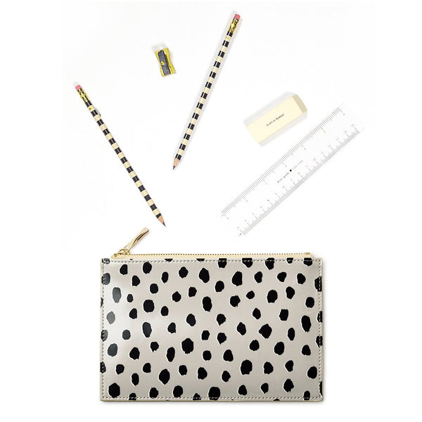 kate spade new york Pencil Pouch - Flmaingo Dot
