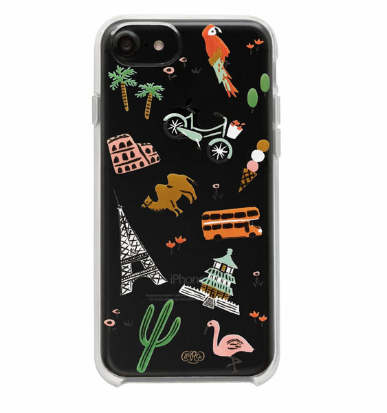 Rifle Paper Co. iPhone 6/7/8 Plus Case - Clear Wanderlust