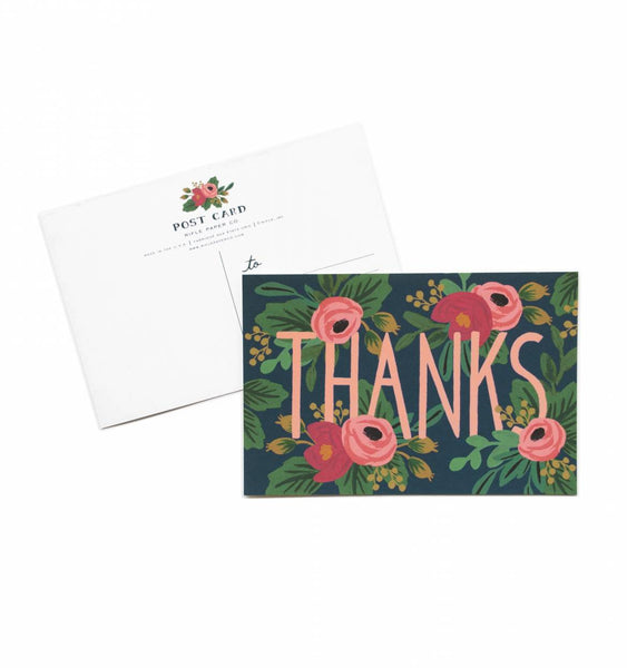 Rifle Paper Co. Postcard Rosa Thanks