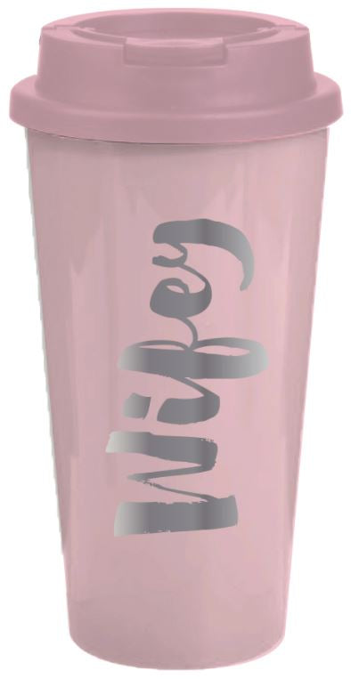 "Slant Collections 16 Ounce Travel Mug ""Wifey"""