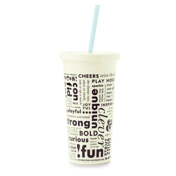 kate spade new york Tumbler With Straw - What Do You Say