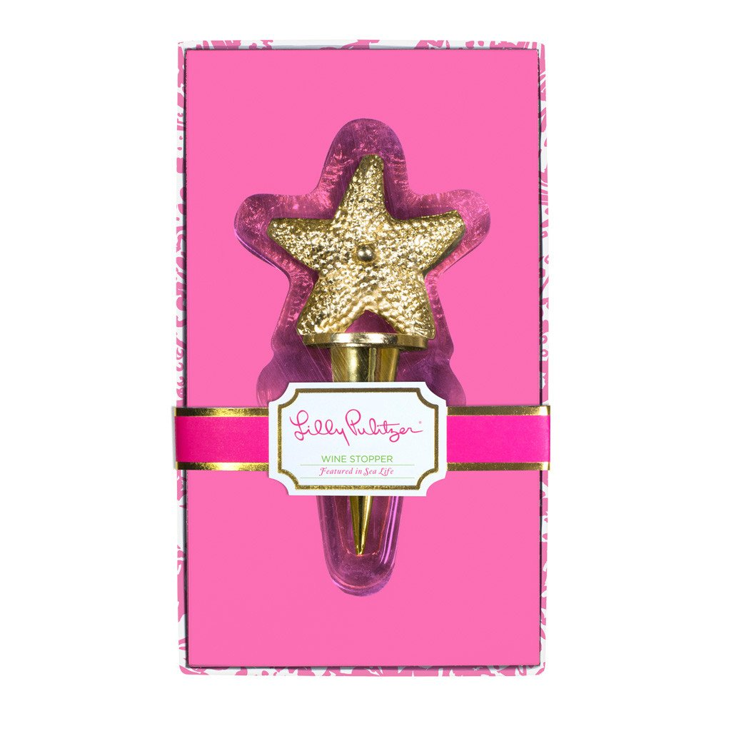 Lilly Pulitzer Wine Stopper - Starfish