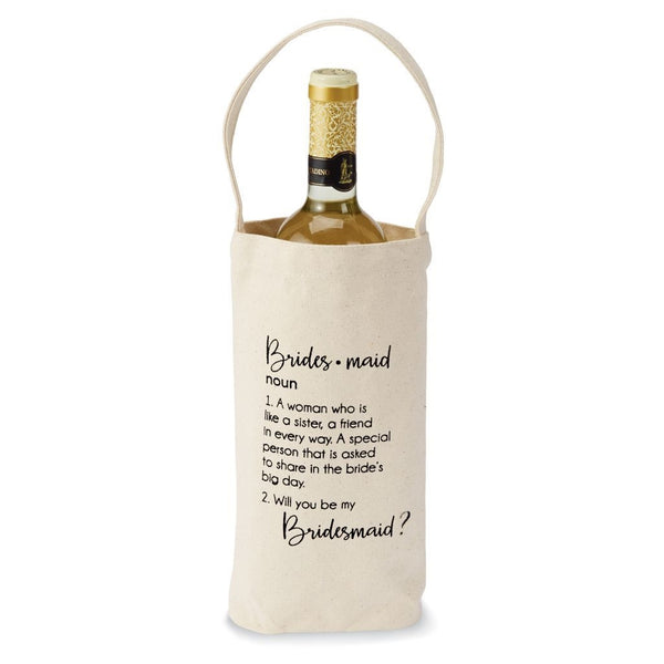 "Mud Pie Canvas Bridesmaid ""Ask"" Wine Bag"