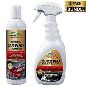 KevianClean:Car Wash Shampoo and Quick Wax Bundle Kit