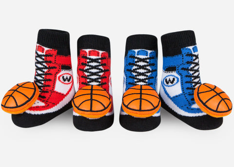 Waddle Basketball Baby Rattle Socks