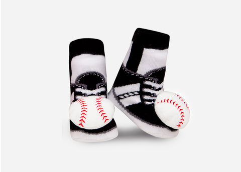 Baseball Rattle Socks- 1 Pair
