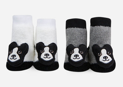 Boston Terrier Rattle Socks