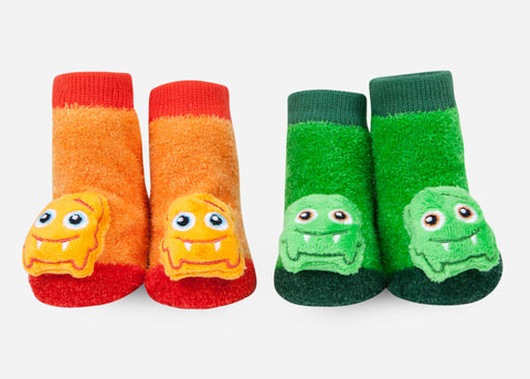 Boy Monster Rattle Socks