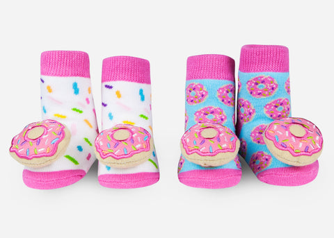 Waddle Donut baby Rattle socks