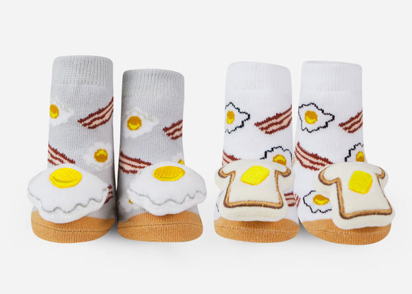 Breakfast baby socks