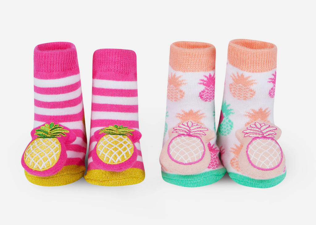 Pineapple baby socks