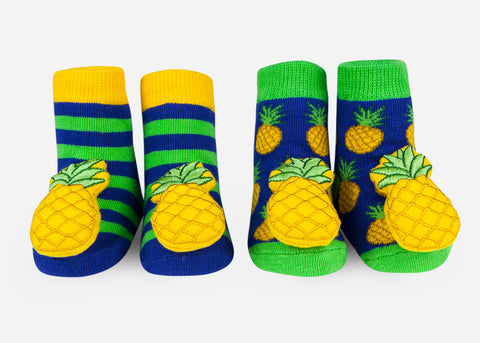 Waddle Pineapple Baby Rattle Socks