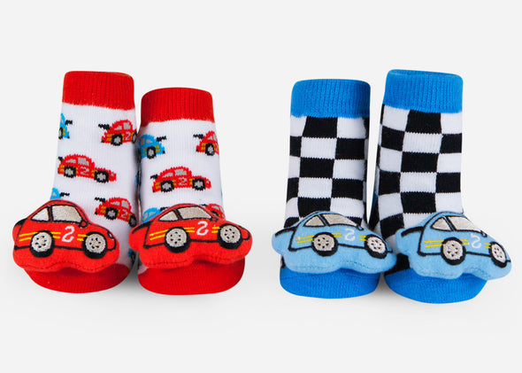 Race car baby socks