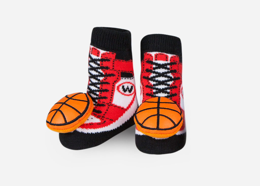 Basketball Rattle Socks- 1 Pair
