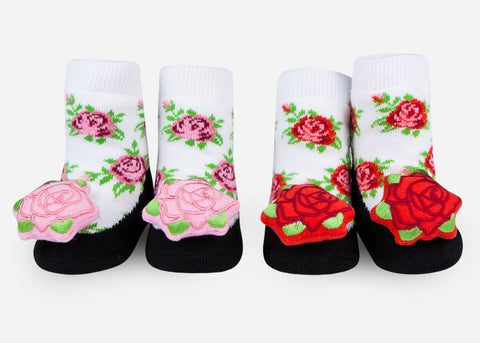 Waddle Rose Baby Rattle Socks