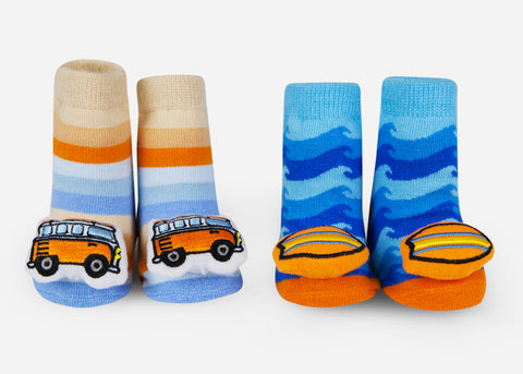 Surfer baby socks