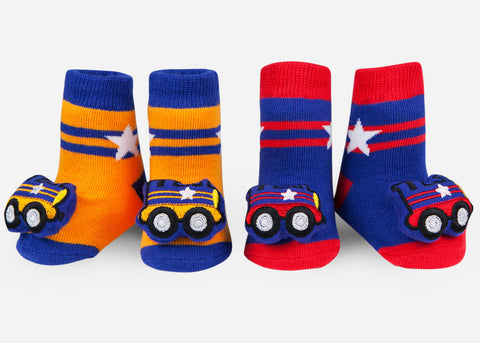 Waddle Train Baby Rattle Socks