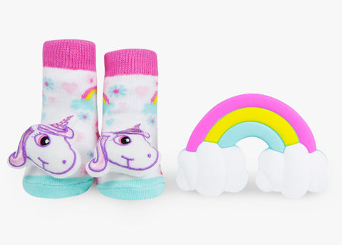unicorn baby teether