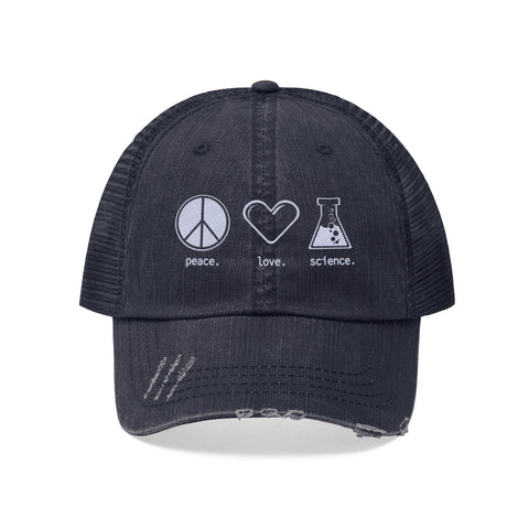 Peace. Love. Science. (Trucker Hat)