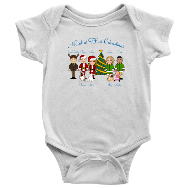 Natalia's First Christmas (Onesie)