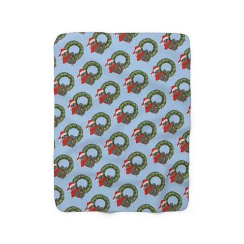 Sloth Christmas (Sherpa Fleece Blanket)