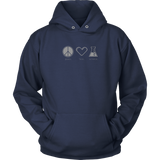 Peace. Love. Science. (Hoodie)