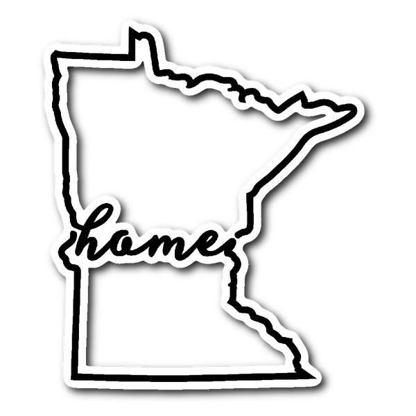 Minnesota Home - Script (Sticker)
