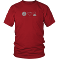 Peace. Love. Science. (T-Shirt)