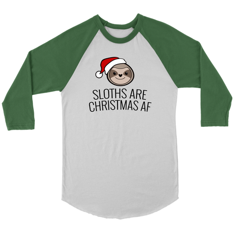 Sloths are Christmas AF (Jersey Tee)