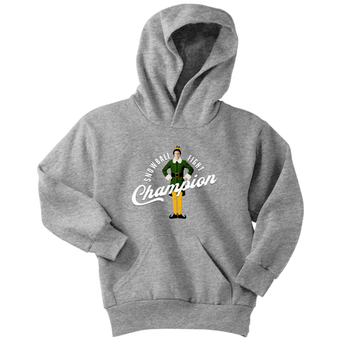 Snowball Fight Champion (Kids Hoodie)