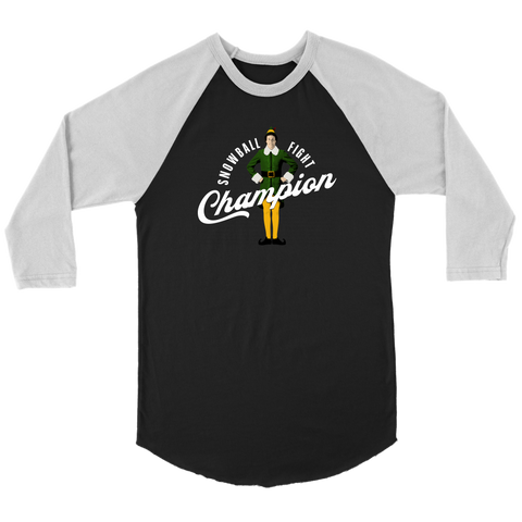 Snowball Fight Champion (Jersey Tee)